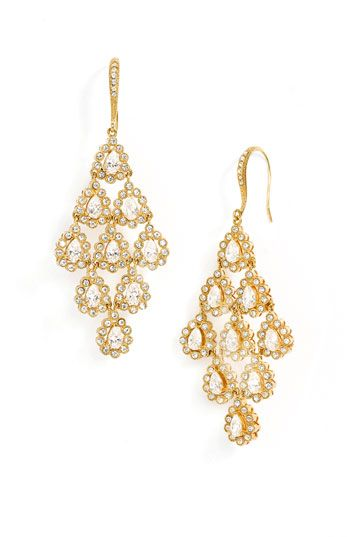 Nadri Tiered Chandelier Earrings Nordstrom These Are Pretty And On Sale Even Better Not Sure If You Want Pretty Jewellery Chandelier Earrings Earrings