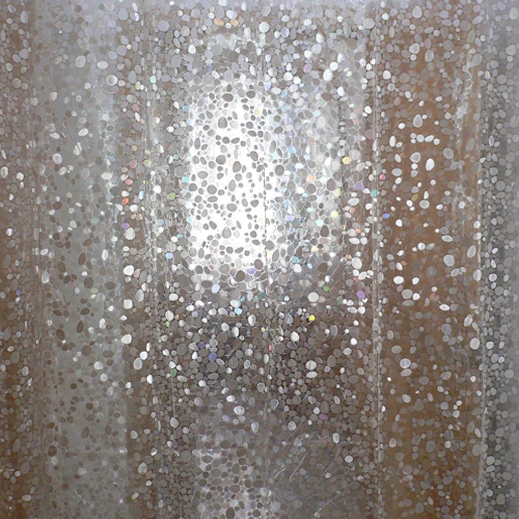 3d crystal iridescent shower curtain