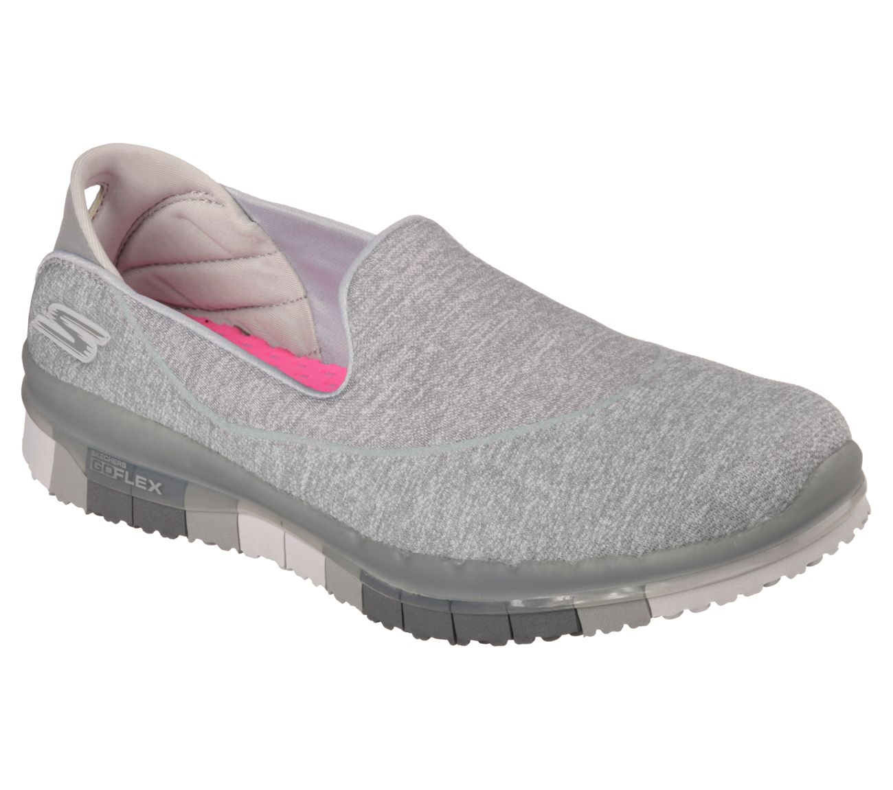 14010 NAVY GRAY Skechers shoes Go Flex Walk Women Slip On