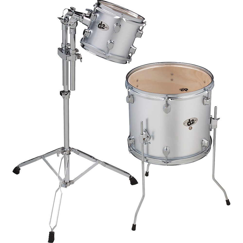 Ddrum D2 2 Piece Add On Pack Brushed Silver Drums Percussion Acoustic Drum