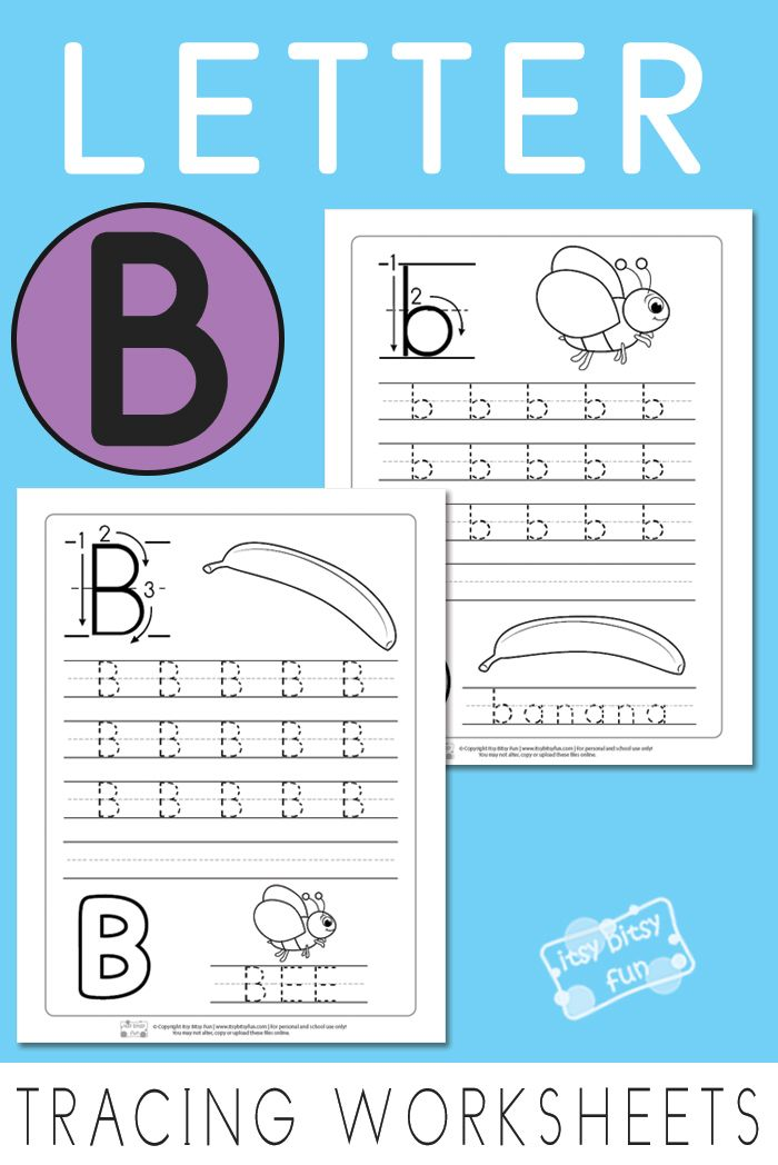 Letter B Tracing Worksheets   Printable letters, Worksheets and ...