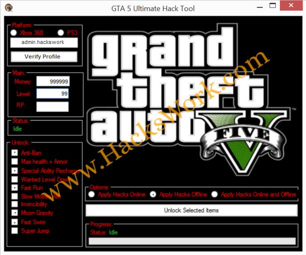 Gta  Ultimate Hack Tool Gta V Cheats Xbox Pc Ps