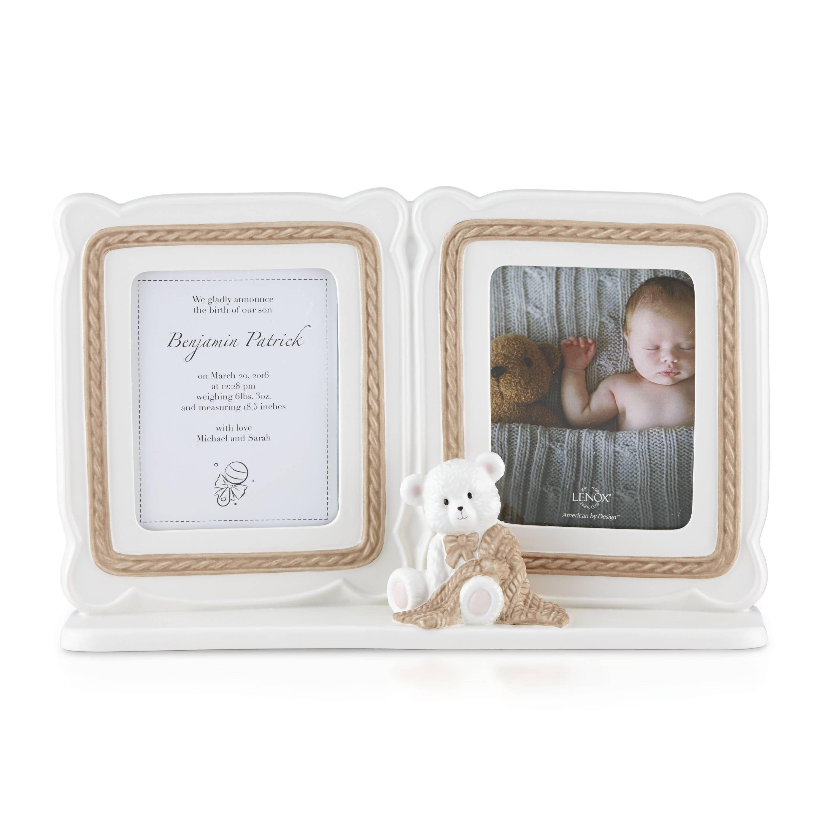 Lenox Baby Bear Double Photo Frame (Baby Bear), White, Size 10x12 ...