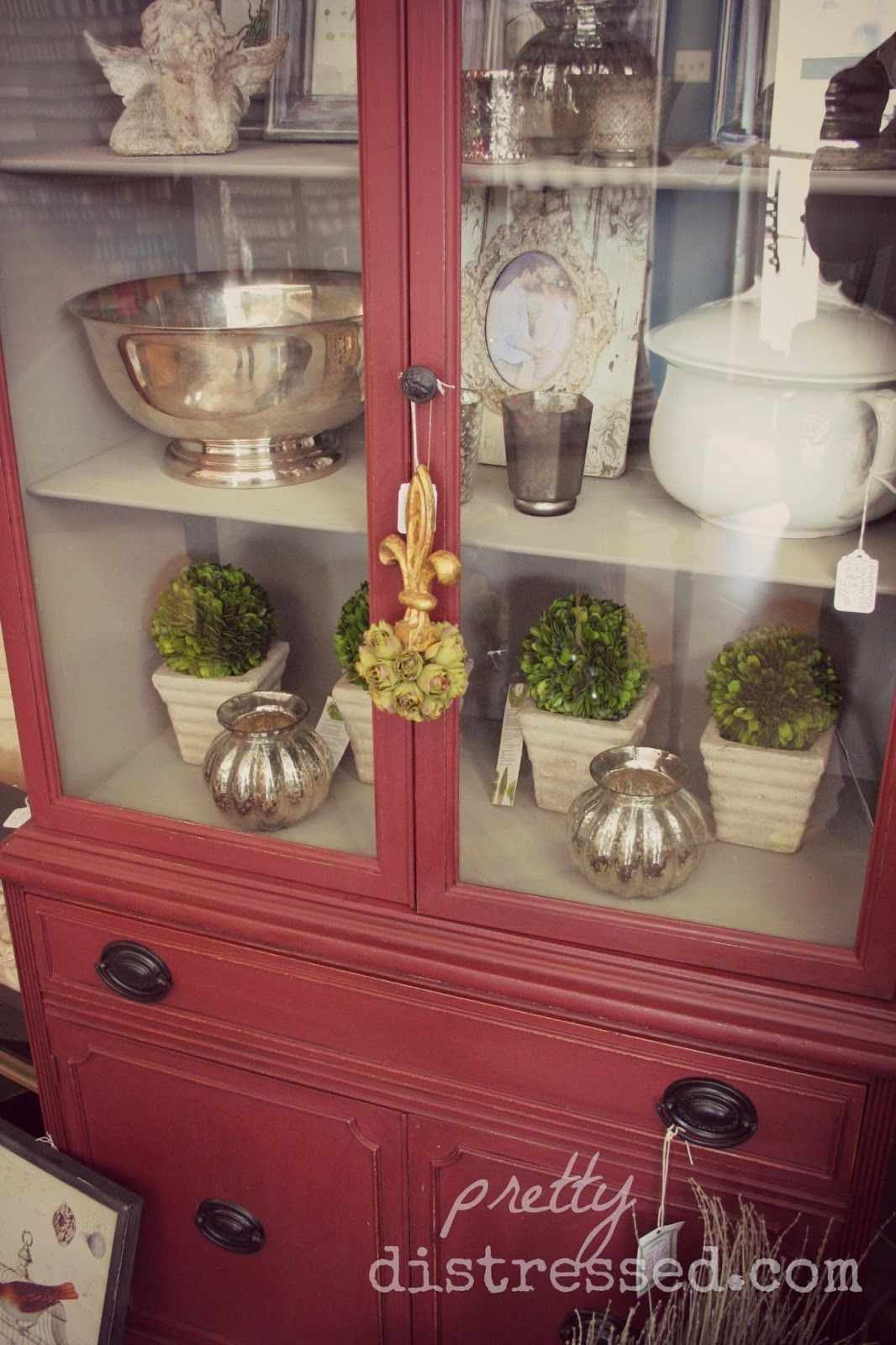 Annie Sloan Chalk Paint Primer Red hutch at Carter's ...
