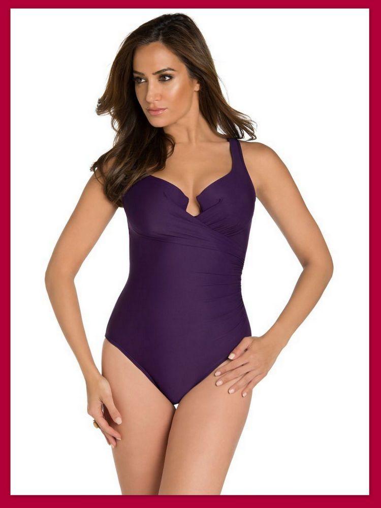b9d41a20dc4 MIRACLESUIT Plum Purple Escape One Piece Swimsuit Bathing Suit #Miraclesuit  #OnePiece