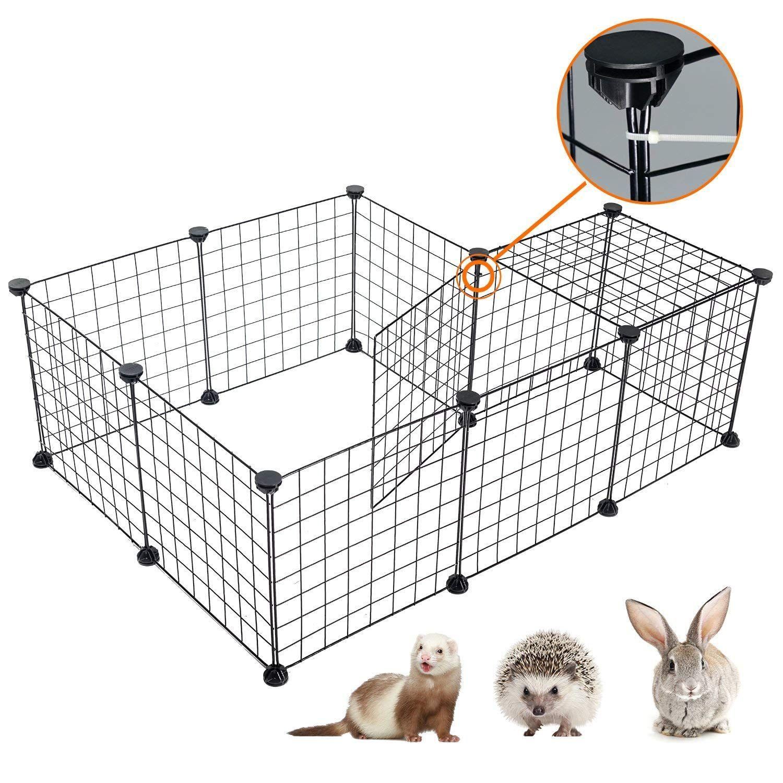Desino pet playpen portable animal crate diy metal wire