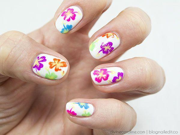 5f5a27880673791f4d061f483e6e4a0f Tropical Flower Nails Tropical