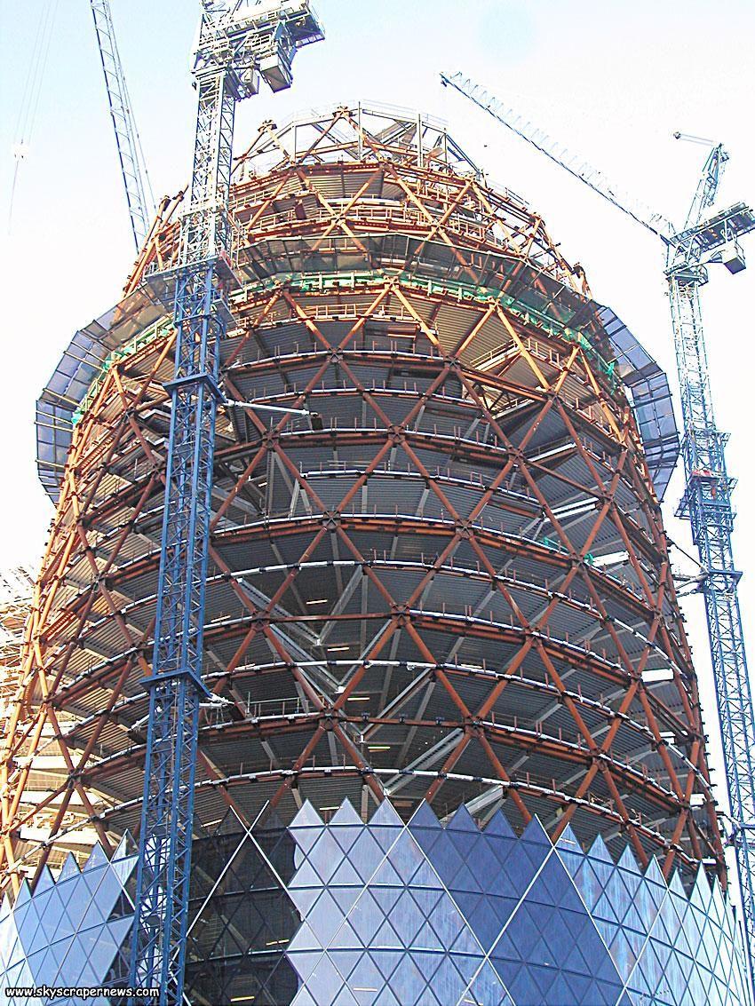 Gherkin London Construction Civil Engineering