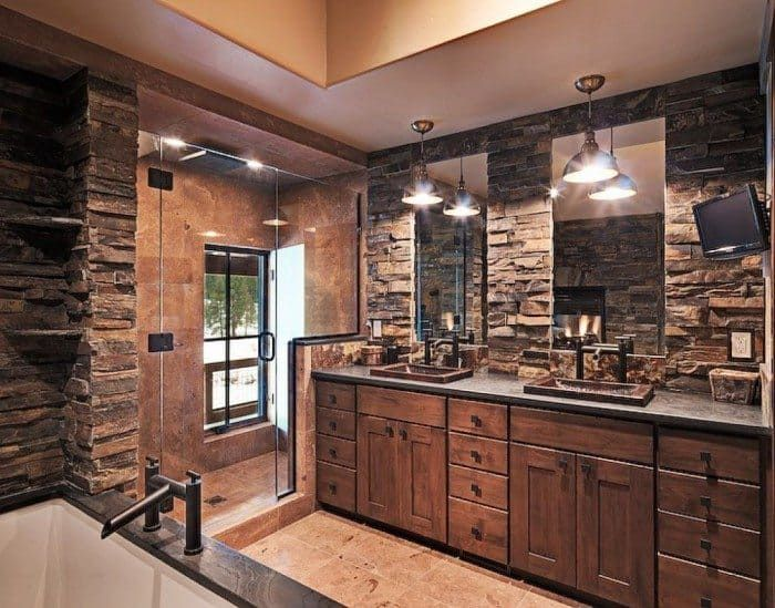 Creating A Rural Rustic Bathroom Style In Your House #rusticbathroomdesigns