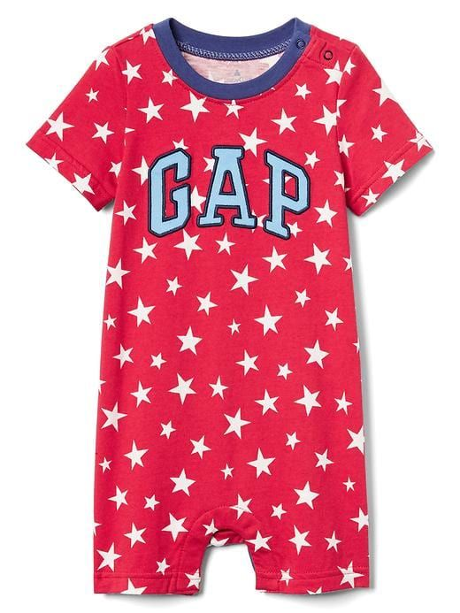 5ff7b957f8df Gap Baby Americana Logo Shorty One-Piece Pepper Red | Products