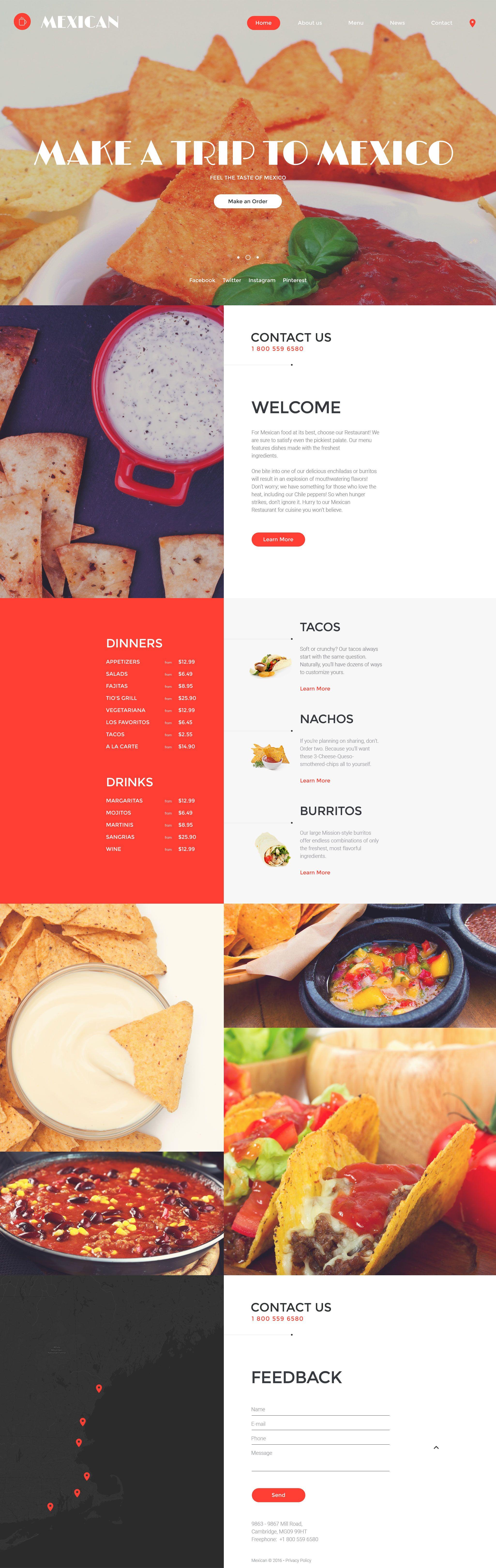Mexican website template new website templates pinterest restaurant management company site template httptemplatemonster website templatesmexican website template 58197ml maxwellsz