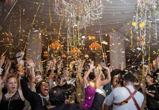 Dance Floor Confetti Canons at engage!13 Biltmore Estate Gatsby Gala // Photo: Carla Ten Eyck
