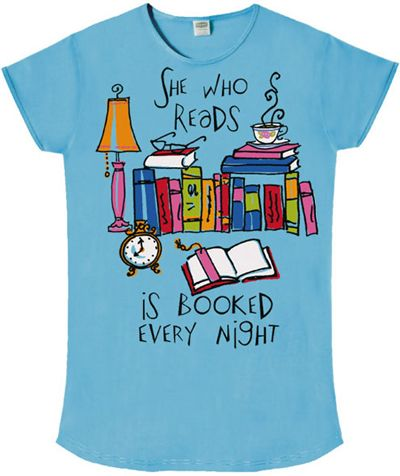 4d305faf9 Stop Falling Productions   She Who Reads is Booked Every Night  Sleep Shirt  - Perfect for the she who loves to read in your life!