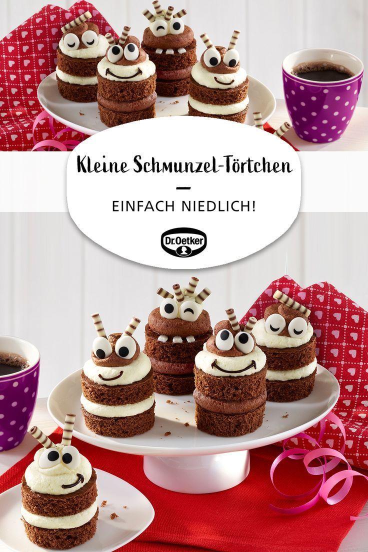 Kleine Schmunzel-Törtchen #cupcakesrezepte
