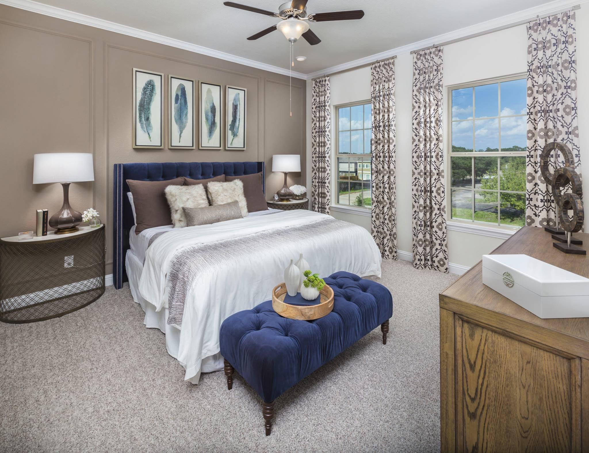 Master bedroom nightstand decor  This Master Retreat is Lovely  The Bench and the Nightstands are