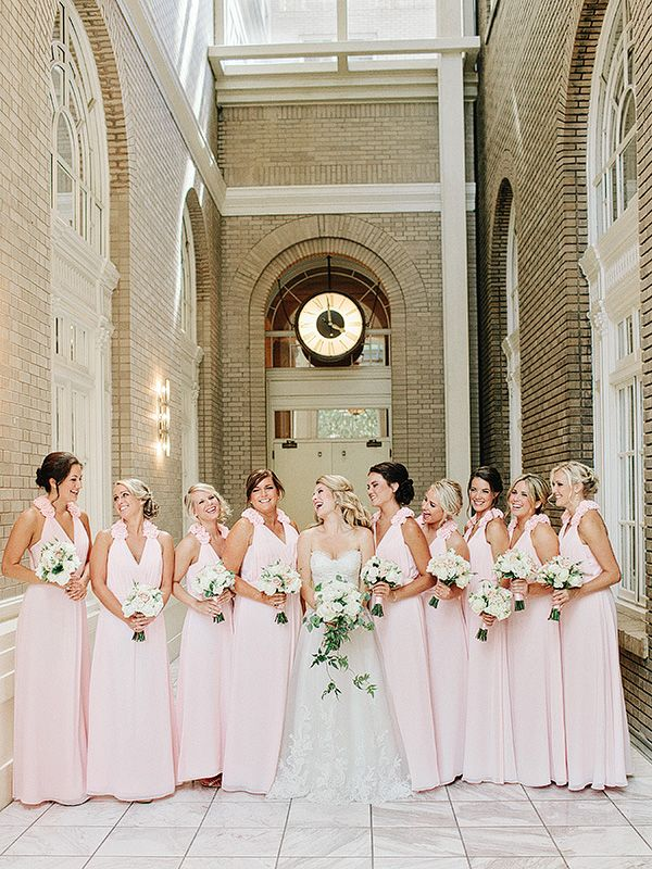 Kristi pete theme pinterest blush pink bridesmaids blush how did yall meet tell us your love story we met at a college football game m4hsunfo