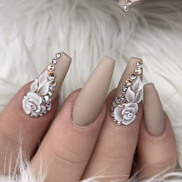 45 Most Beautiful 3d Nail Art Design Ideas For Trendy Girls 3d Nail Art Designs Ballerina Nails Nail Designs