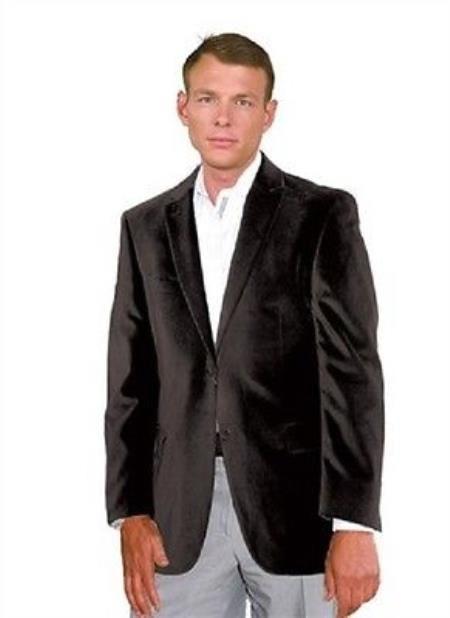 Mantoni Velvet Blazer Sport Jacket For Men Black $139 | Mensitaly ...