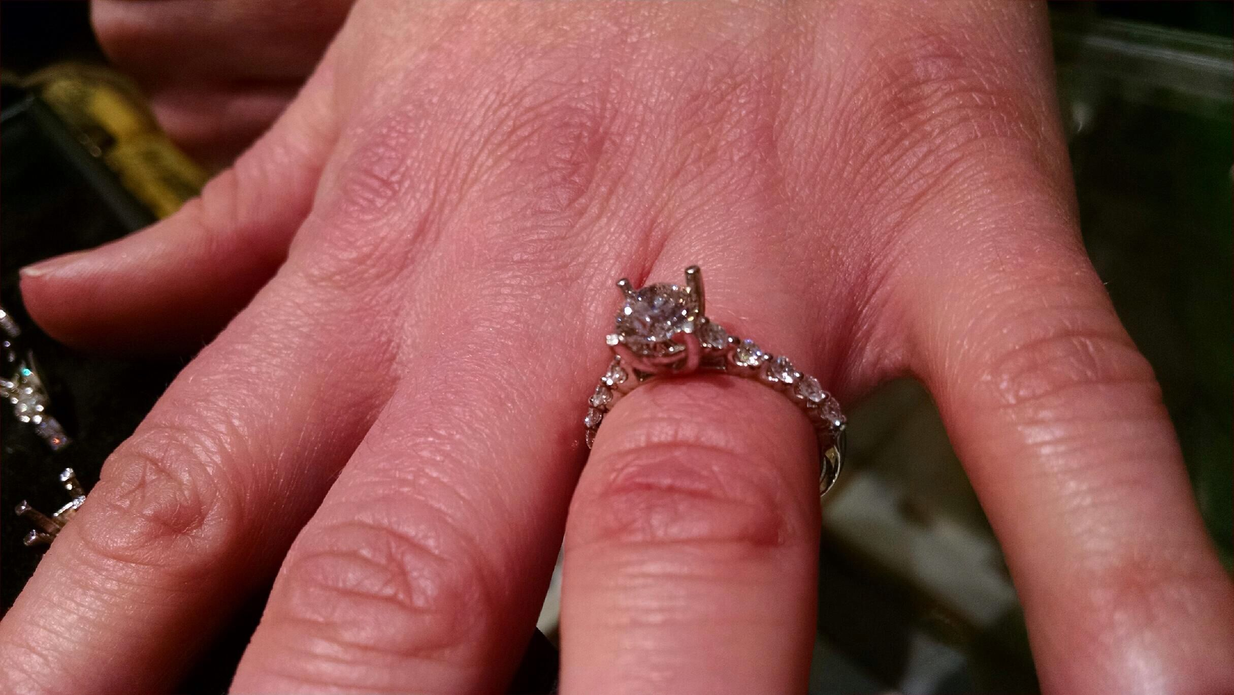 Single Prong Set Diamond Engagement Ring | Wedding... Engagement ...