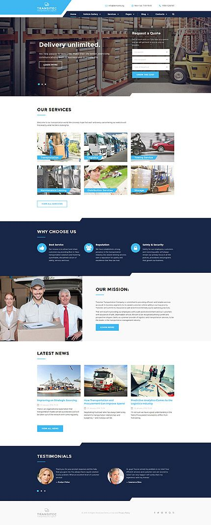 Courier \ Packages #website #template #themes #business - web design quote template