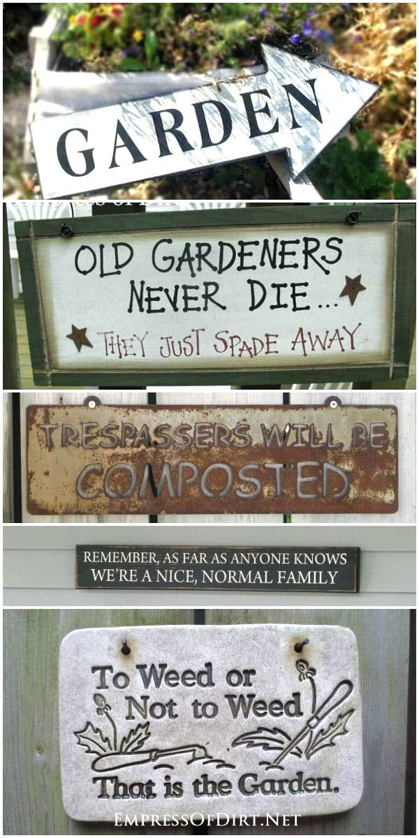 40 Funny Cute Sarcastic And Sentimental Garden Signs Empress Of