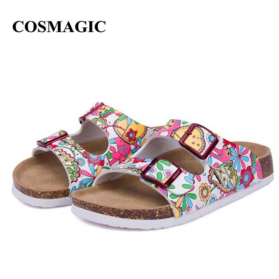 6cf8611b9fc6 ... sandals Suppliers  2017 New Summer Beach Cork Slippers Sandals Casual Double  Buckle Clogs Sandalias Women Slip on Flip Flops Flats Shoe Plus Size