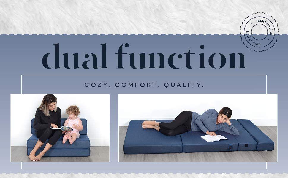 Amazon Com Milliard Tri Fold Foam Folding Mattress And Sofa Bed