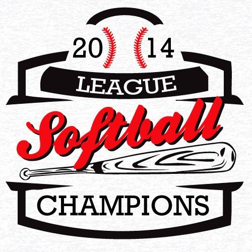 Softball league champion t shirt vector clip art eps for Softball logos for t shirts