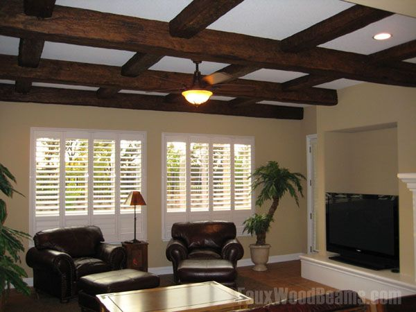 Diy faux beams diy coffered ceiling ideas design ideas with faux diy faux beams diy coffered ceiling ideas design ideas with faux ceiling beams solutioingenieria Images