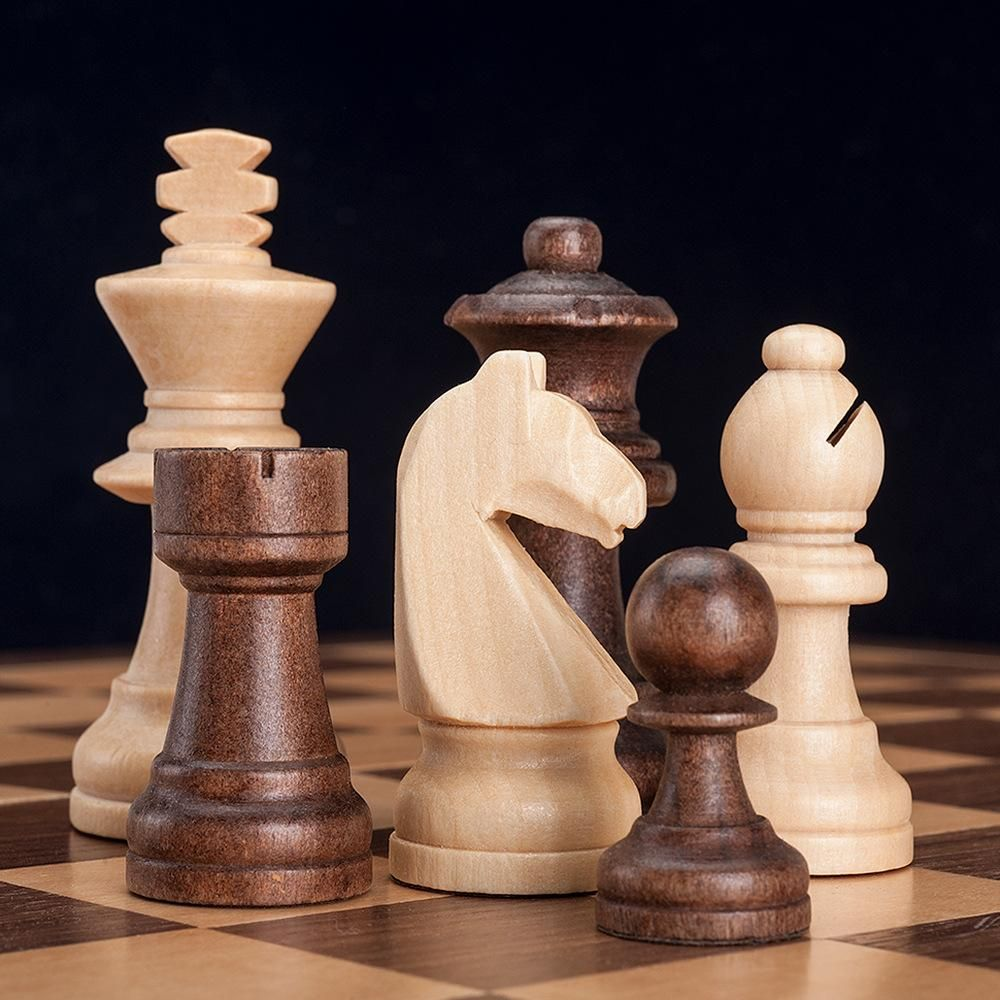 Beech Wood Chess Set - 29cm