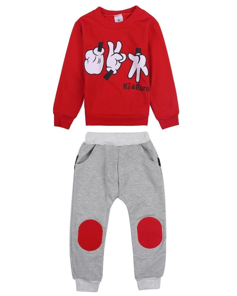381deee4c Cartoon Mickey Mouse Print Baby Boys Tracksuit Set (2pcs) - More Choices  Available - FOR MY LITTLE ANGELS