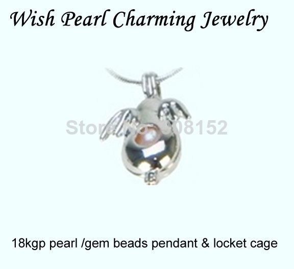 18kgp the mascot angel with wings fly penguins style pearl gem beads 18kgp the mascot angel with wings fly penguins style pearl gem beads locket cage pendant mounting aloadofball Image collections