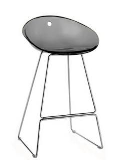 Sitzhöhe Barhocker design barhocker farbe grau transparent 65 cm sitzhöhe barhocker