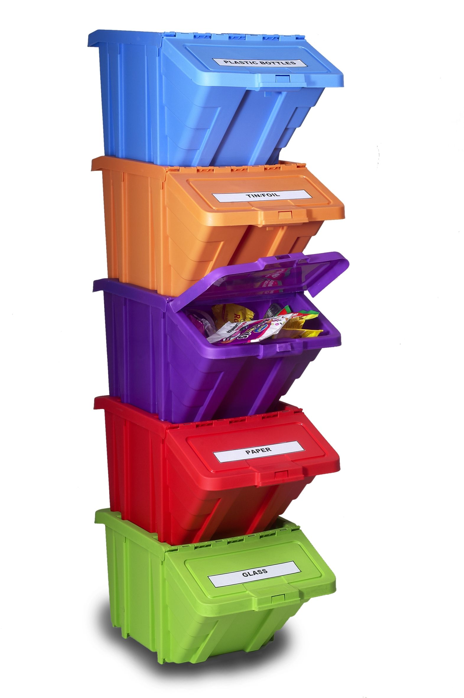 Fun and stackable Recycle bin | Promotag promo items in 2019