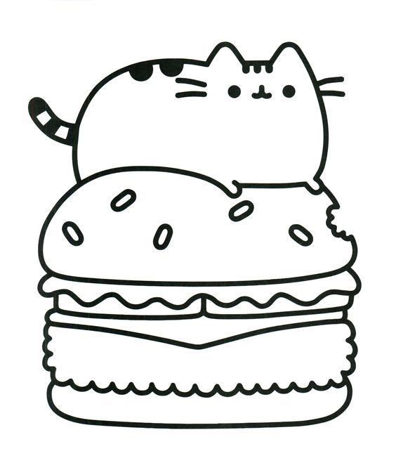 Pin by marjolaine grange on coloriage pusheen pinterest for Fat cat coloring pages