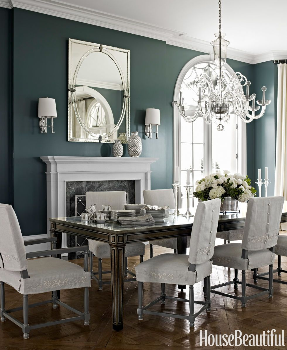 The Luxe Formality Of Dining Room In A Florida House Is Enhanced By Designer Marshall