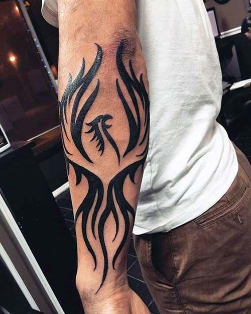 Forearm tribal phoenix tattoo tribal kol anka ku u d vmesi for Forearm tribal tattoo