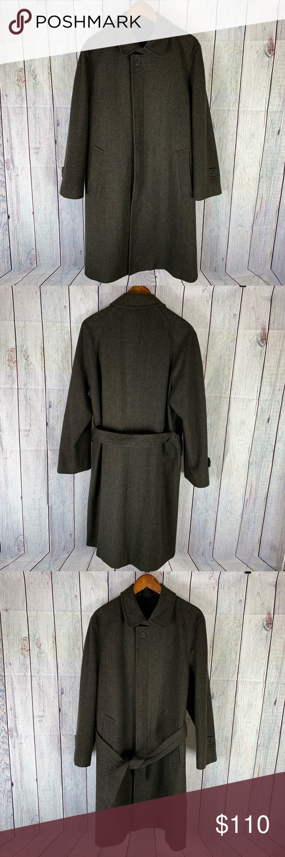 Austin Reed Men S Pure Wool Trench Coat Austin Reed Men S Pure Wool Trench Coat Size 38r Color Brown See Photo Wool Trench Coat Clothes Design Trench Coat