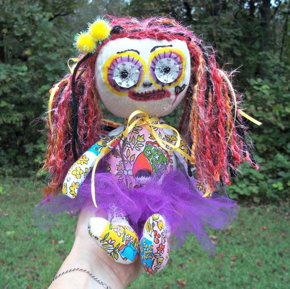 Use coupon code SAVE5 on any order $45 or more and get $5 off. Good til Oct. 15, 2015. Creepy Cloth Doll Margaret Zombie Voodoo Horror by SinisterCuties #creepycute #creepydoll