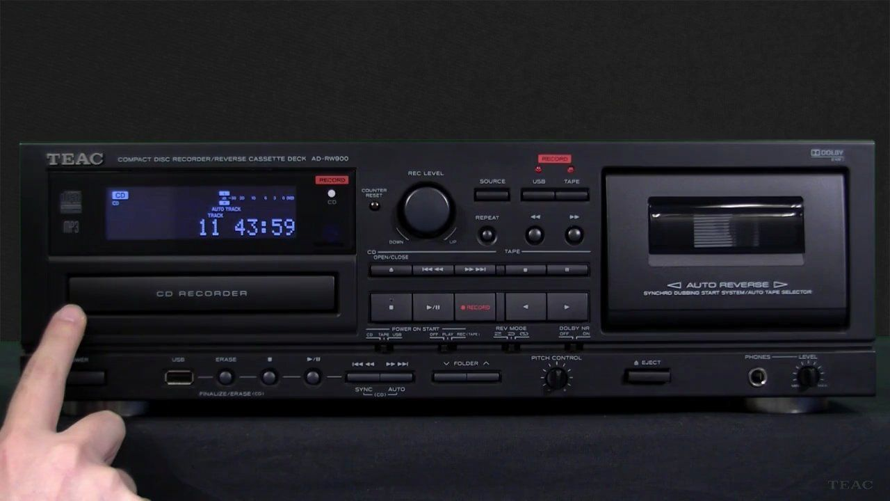 Teac Ad Rw900 Cd Recorder Cd Recording From Cassette Usb