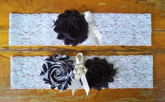 Black Garter Set by BloomsandBlessings on Etsy