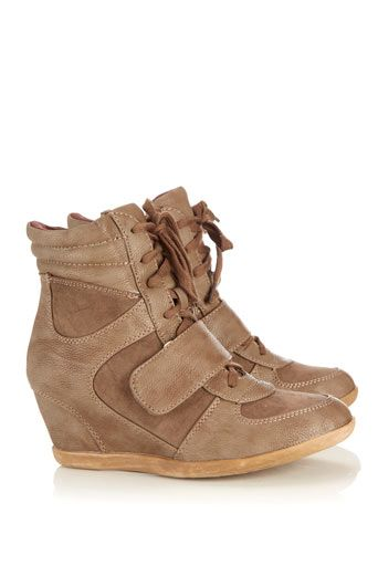 Tan Wedge Trainer | Wedged trainers