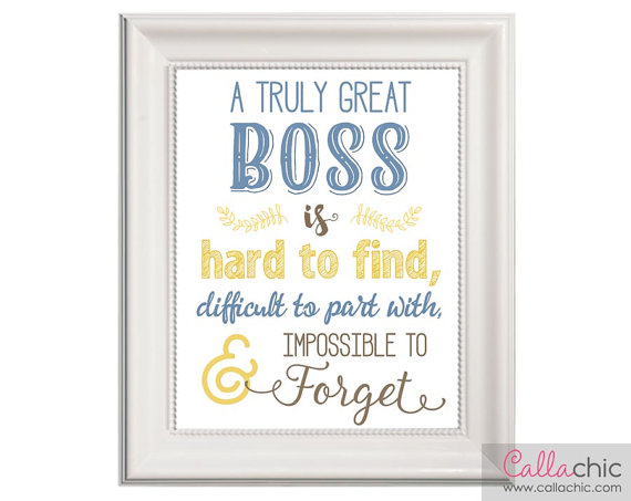 3a1375804b5 Boss Wall Art PRINTABLE - Appreciation / Farewell / Retirement Gift,  INSTANT Download DIY - Truly gr