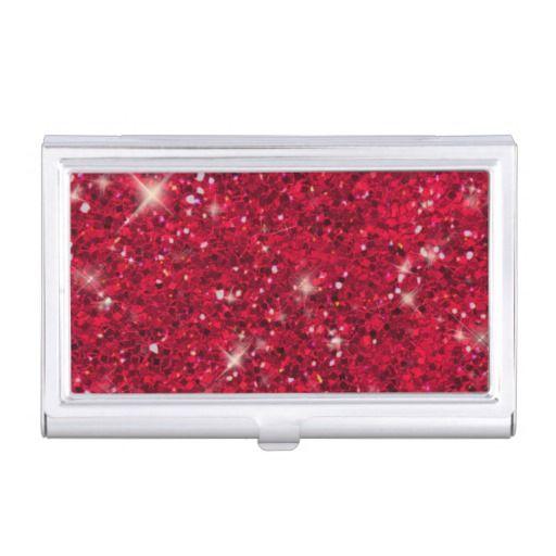 Red Glitter Pattern #businesscardholders#glitter#red#forher