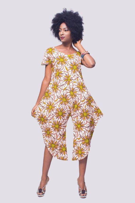 Romper, Ankara Jumpsuit, African Womens Clothing, Kitenge Jumpsuit, African Print jumpsuit, Ladies rompers, jumpsuit women, romper women #afrikanischerstil