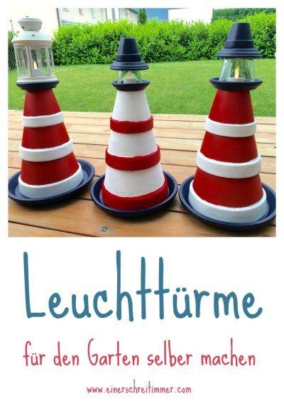 Garten-DIY Zum Sommerbeginn bauen wir einen Leuchtturm Kerti
