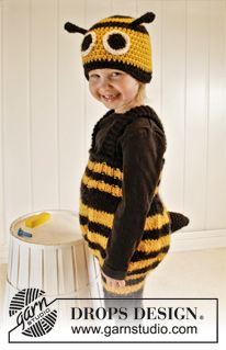 Drops Karneval Gestrickte Bienen Hose Und Gehäkelte Bienen Mütze In