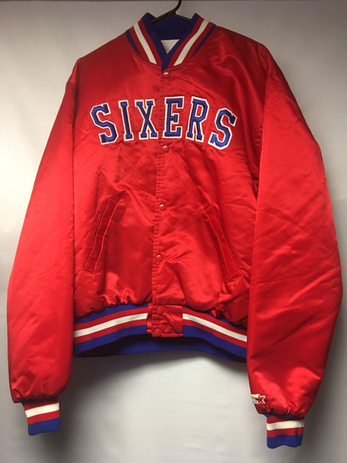 A personal favorite from my Etsy shop https://www.etsy.com/listing/497950471/vintage-philadelphia-sixers-satin