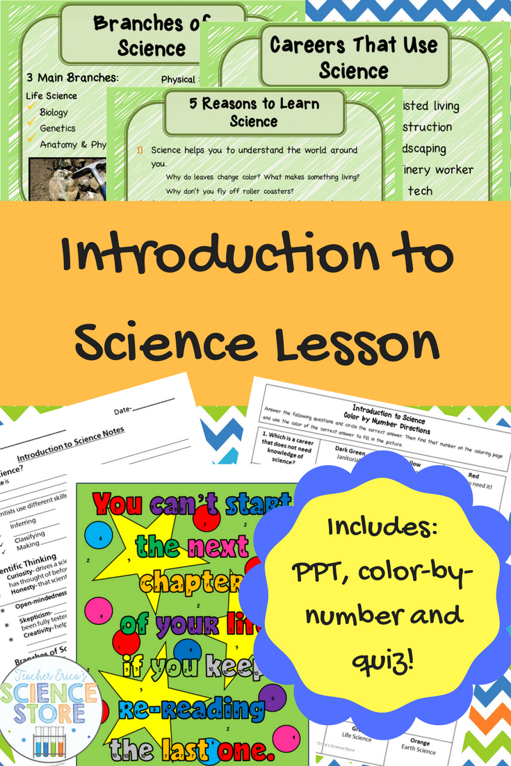What Is Science Lesson Pinterest