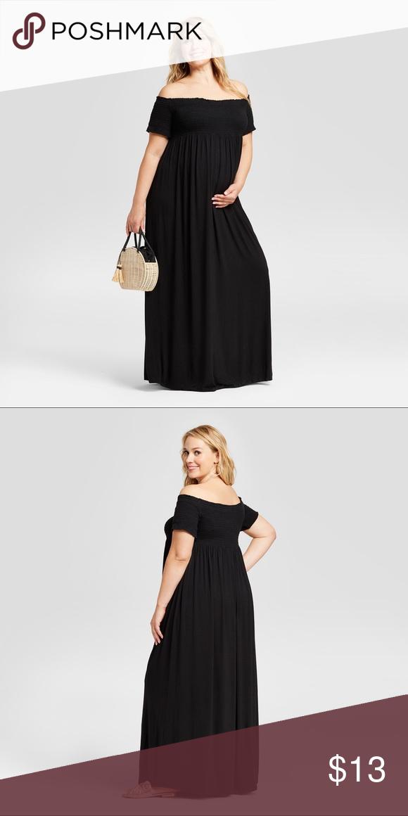 3f087665b0fc Maternity Smocked Maxi Dress Ingrid & Isabel Black This black maxi dress  offers maximum maternity style